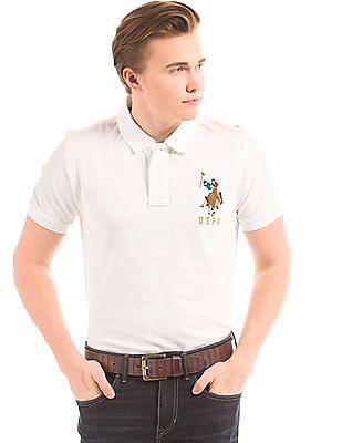 U.S. Polo Assn. Slim Fit Pique Polo Shirtcc